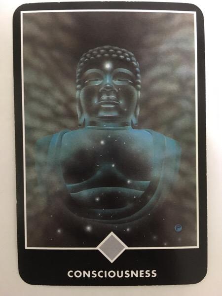 CONSCIOUSNESS 意識 OSHO禅タロット 402日目 朝陽ウォーキング 20160807