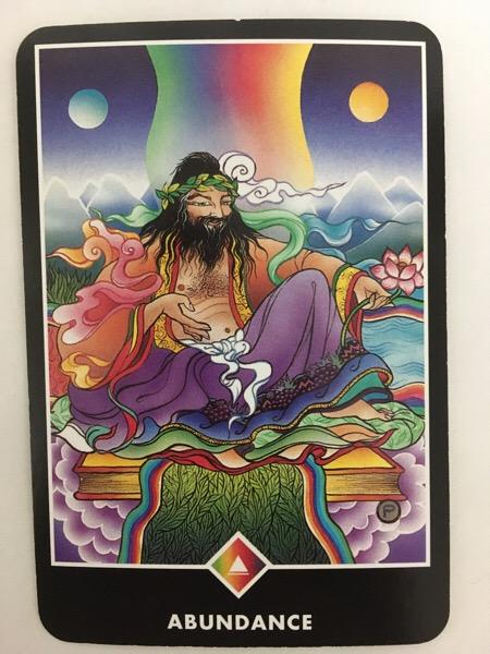ABUNDANCE あふれ出る豊かさ OSHO禅タロット 411日目 曇天ウォーキング 20160816