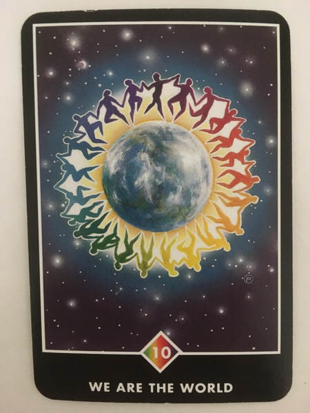 WE ARE THE WORLD ウィ・アー・ザ・ワールド OSHO禅タロット 556日目 朝陽ウォーキング 20170108