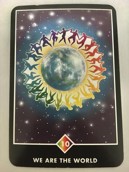 WE ARE THE WORLD ウィー・アー・ザ・ワールド OSHO禅タロット 756日目 曇天ウォーキング 20170727