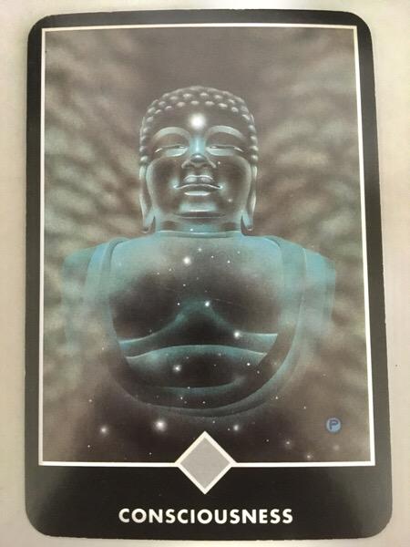 CONSCIOUSNESS 意識 OSHO禅タロット 785日目 朝陽ウォーキング 20170825