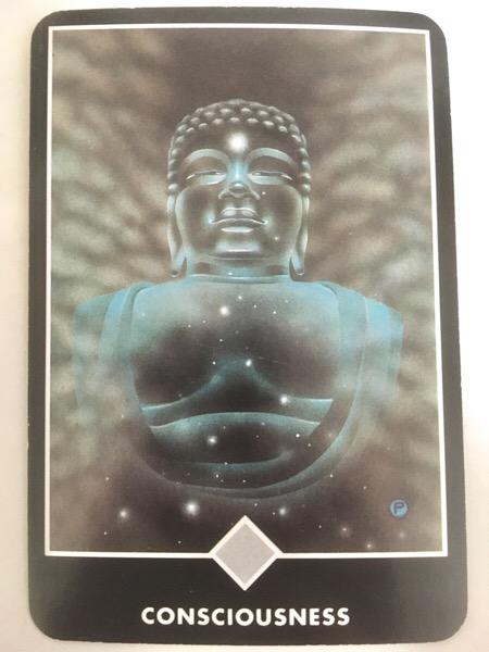 CONSCIOUSNESS 意識 OSHO禅タロット 855日目 朝陽ウォーキング 20171103