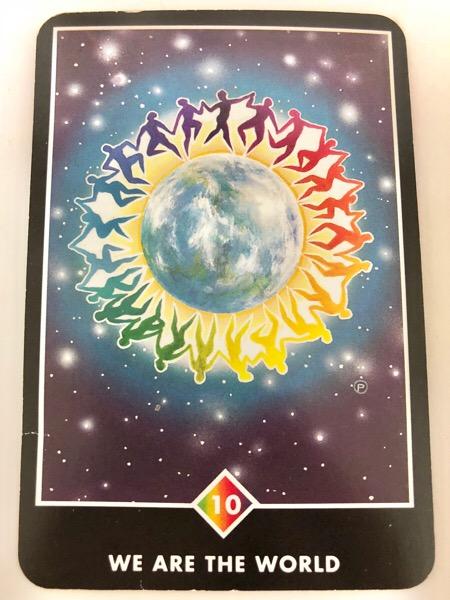 WE ARE THE WORLD ウィー・アー・ザ・ワールド OSHO禅タロット 993日目 曇天ウォーキング 20180321