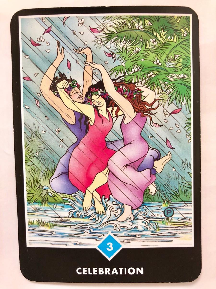 CELEBRATION 祝祭 OSHO禅タロット 1165目 朝陽ウォーキング 20180909