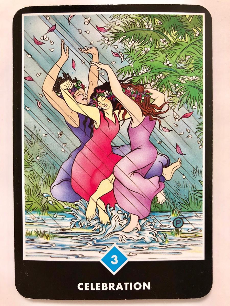 CELEBRATION 祝祭 OSHO禅タロット 1272日目 曇天ウォーキング 20181225