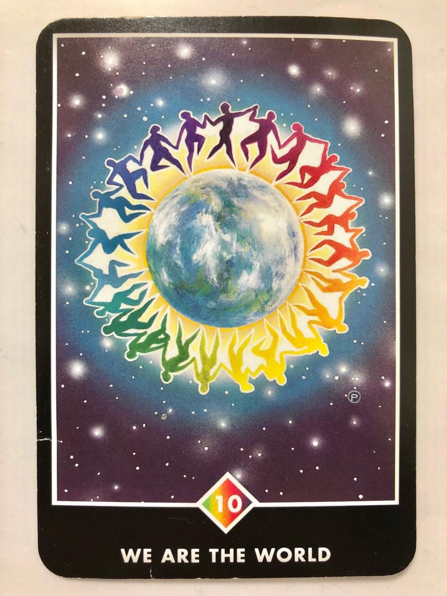 WE ARE THE WORLD ウィー・アー・ザ・ワールド  OSHO禅タロット 1293日目 朝陽ウォーキング 20190115