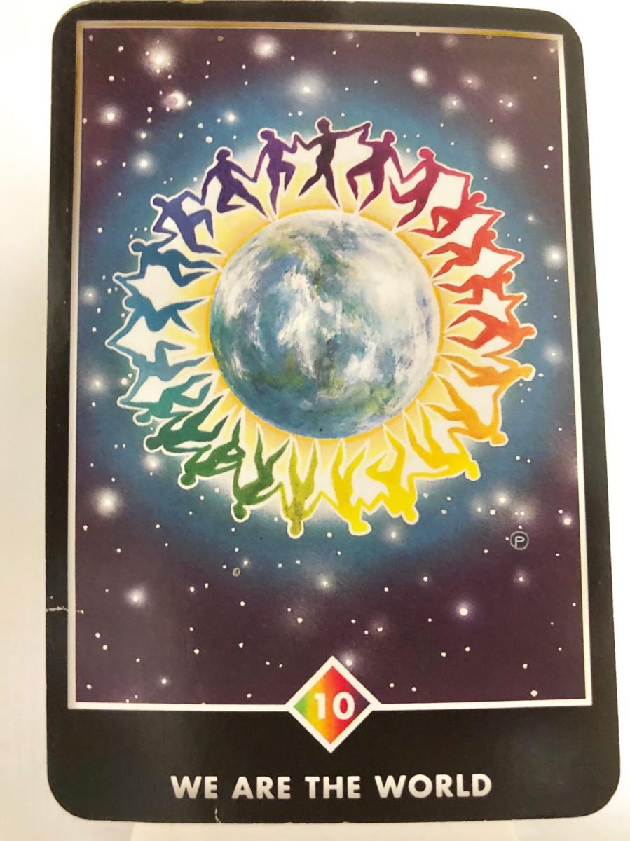WE ARE THE WORLD ウィー・アー・ザ・ワールド OSHO禅タロット 1480日目 曇天ウォーキング 20190721