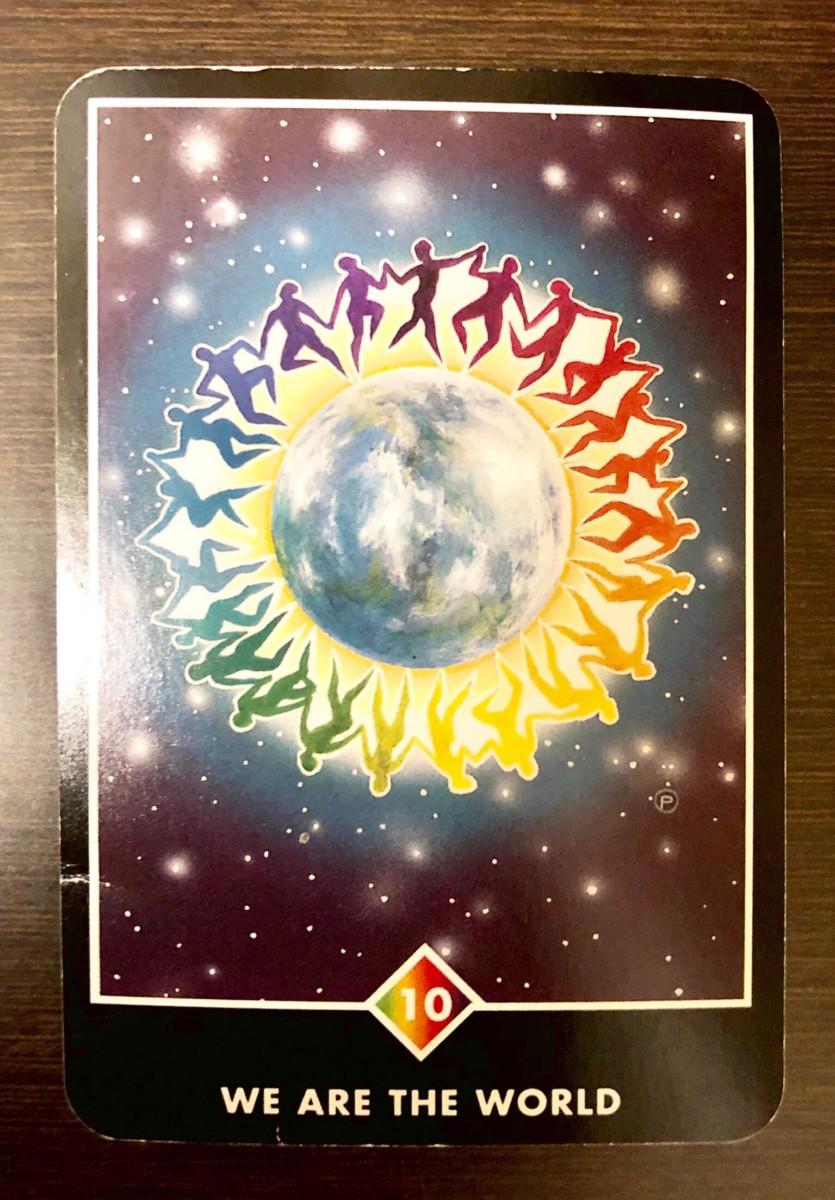 WE ARE THE WORLD ウィー・アー・ザ・ワールド OSHO禅タロット 1498日目 朝陽ウォーキング 20190808