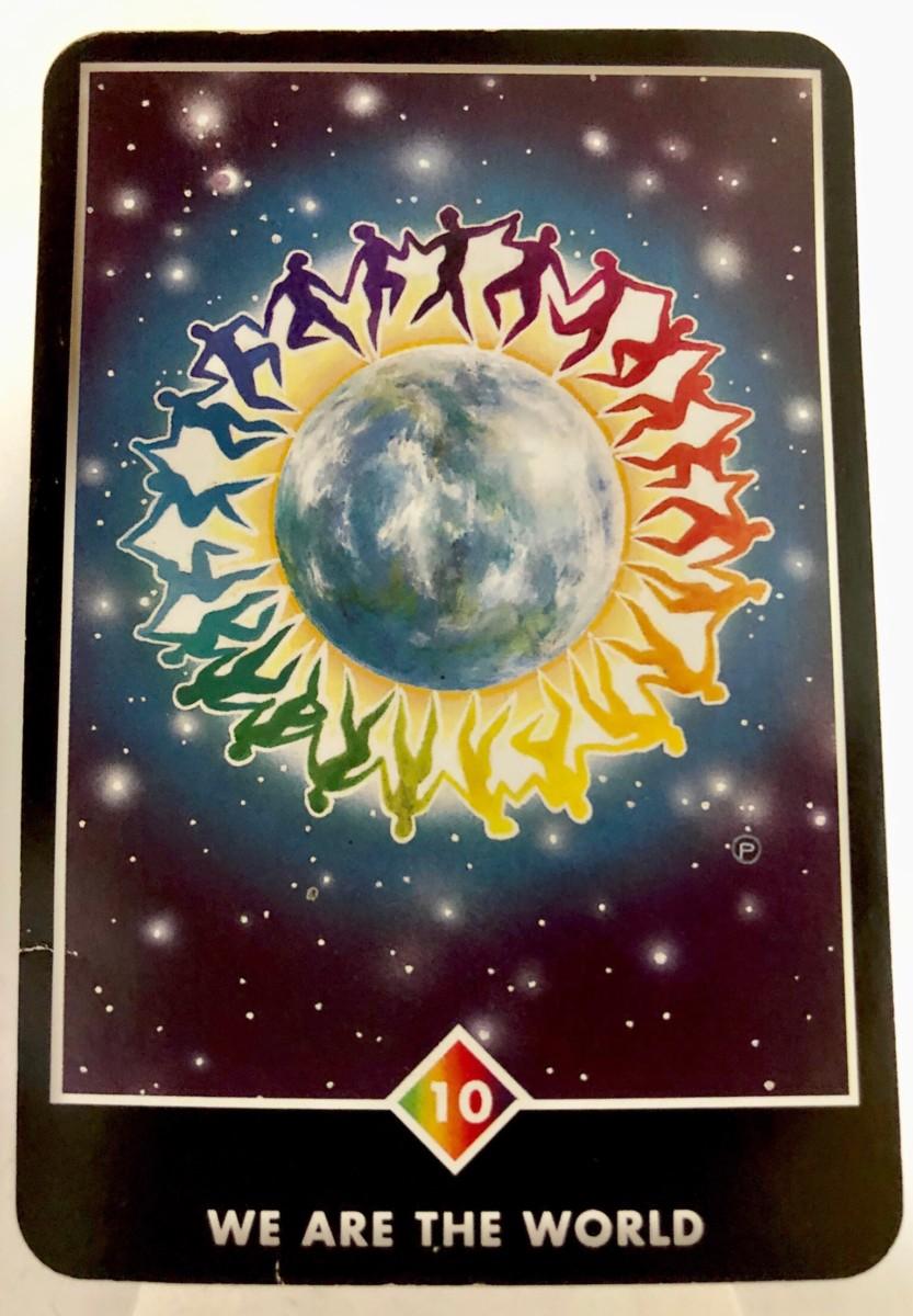 WE ARE THE WORLD ウィ・アー・ザ・ワールド OSHO禅タロット 1554日目 曇天ウォーキング 20191003