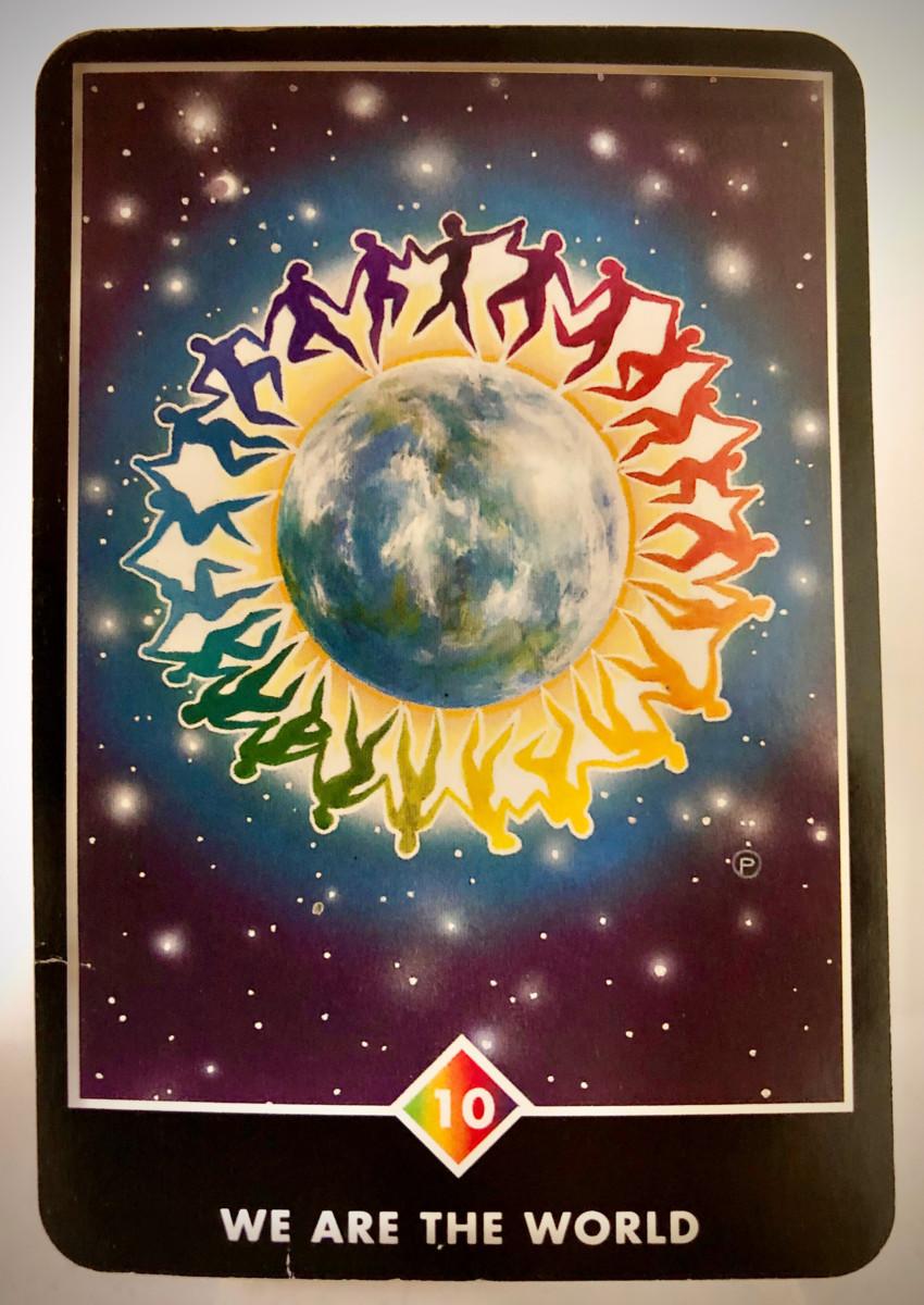 WE ARE THE WORLD ウィ・アー・ザ・ワールド OSHO禅タロット 1623日目 夜間ウォーキング 20191211