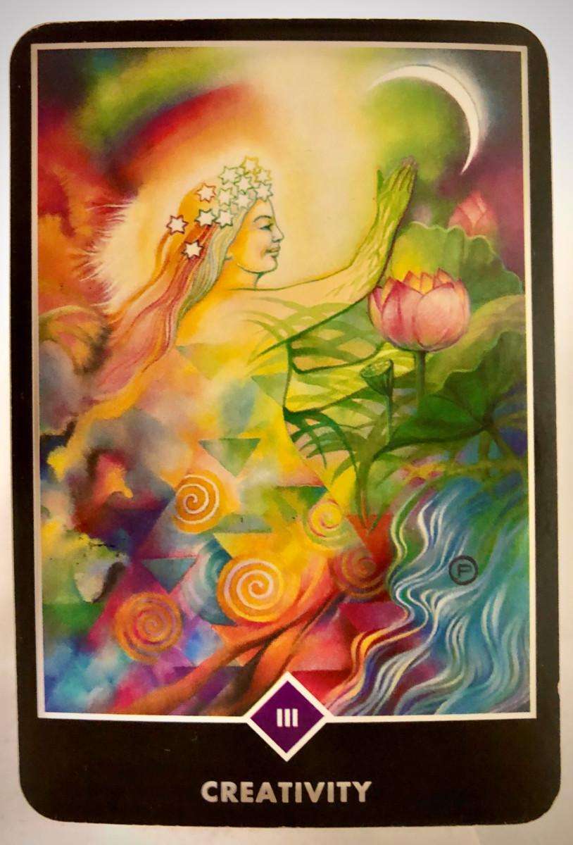 CREATIVITY 創造性 OSHO禅タロット 1663日目 朝陽ウォーキング 20200120
