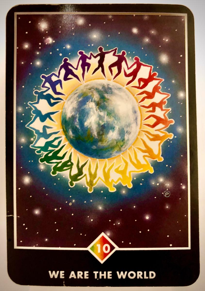 WE ARE THE WORLD ウィ・アー・ザ・ワールド OSHO禅タロット 1707日目 曇天ウォーキング 20200304