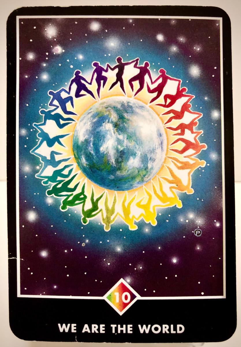WE ARE THE WORLD ウィ・アー・ザ・ワールド OSHO禅タロット 1862日目 朝陽ウォーキング 20200806