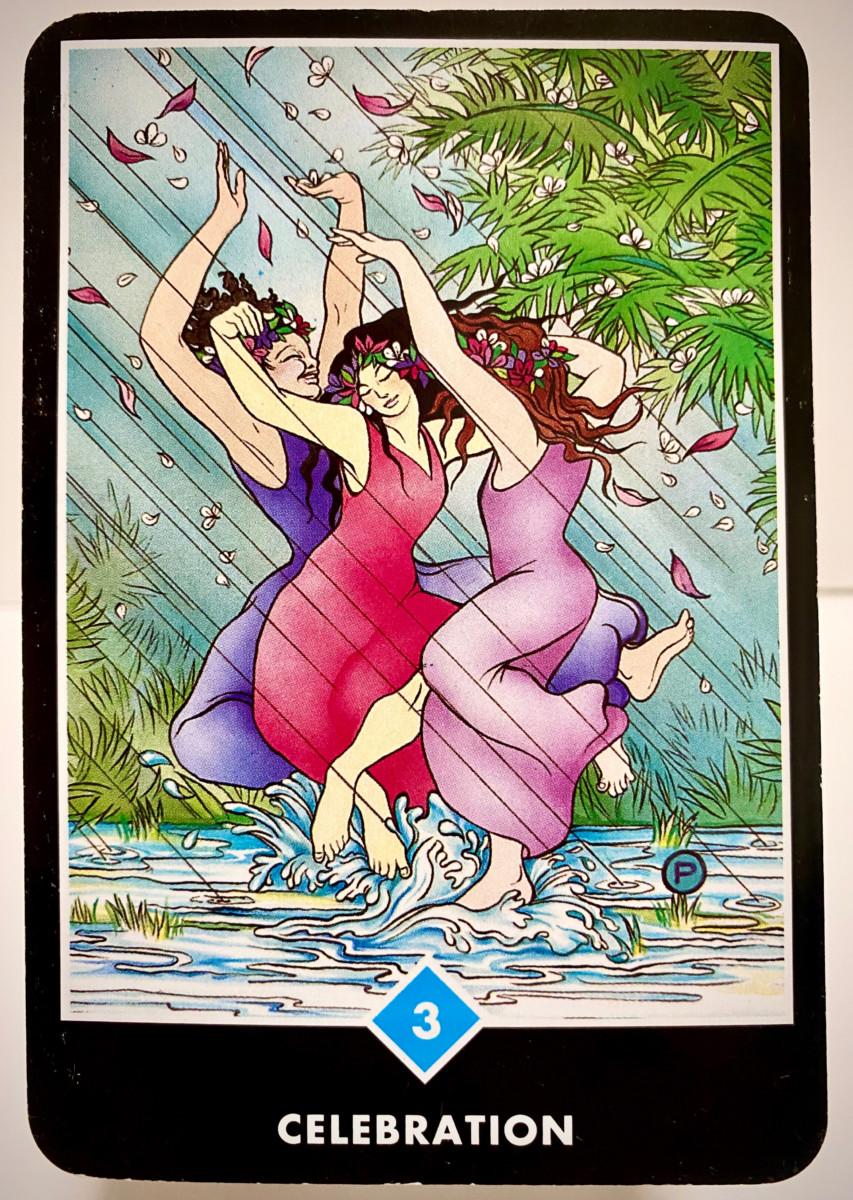 CELEBRATION 祝祭 OSHO禅タロット 1883日目 朝陽ウォーキング 20200827