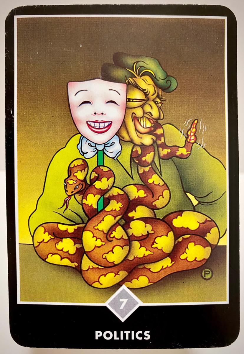 POLITICS 政治 OSHO禅タロット 1893日目 雨中ウォーキング 20200906