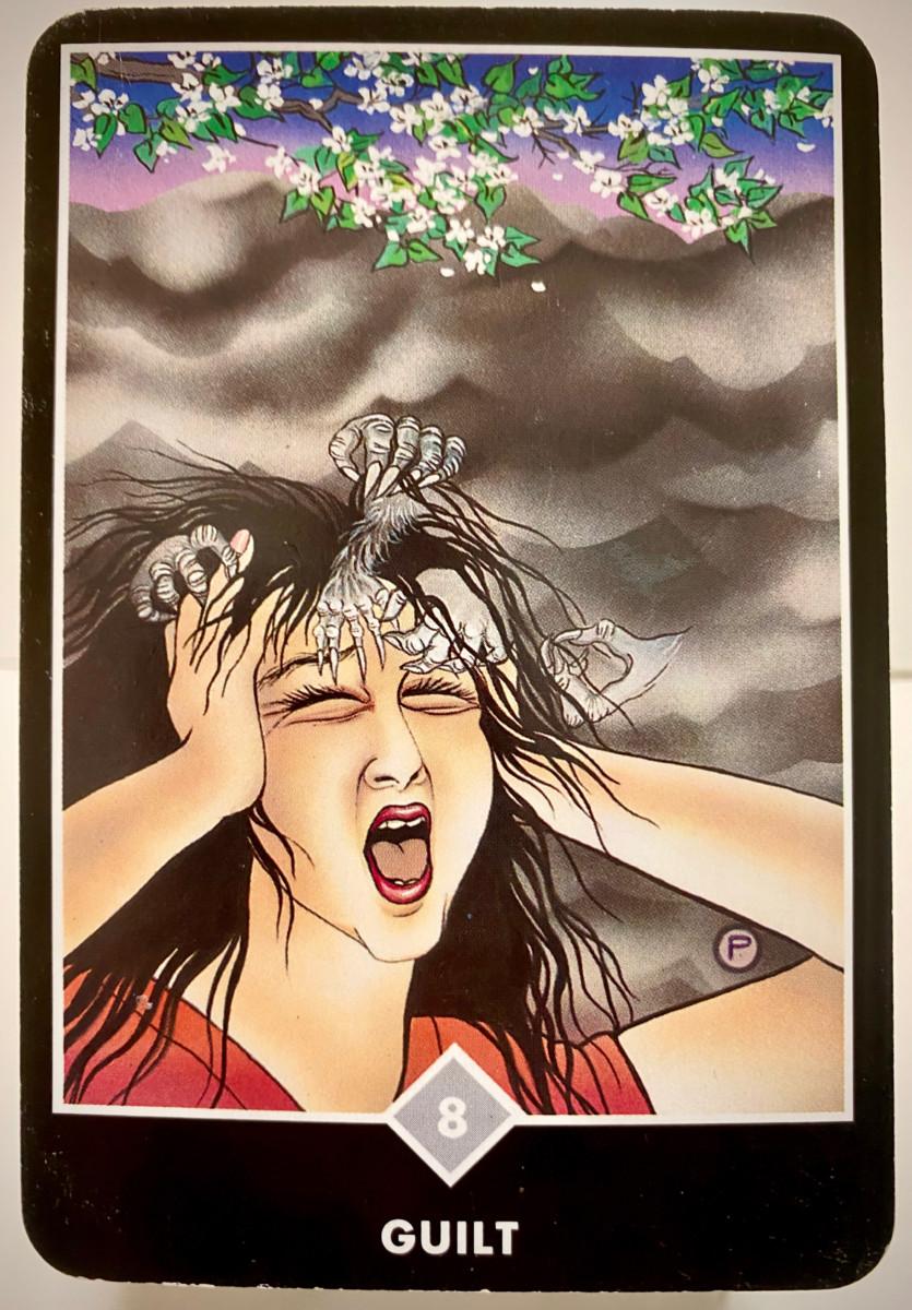 GUILT 罪悪感 OSHO禅タロット 1903日目 曇天ウォーキング 20200916
