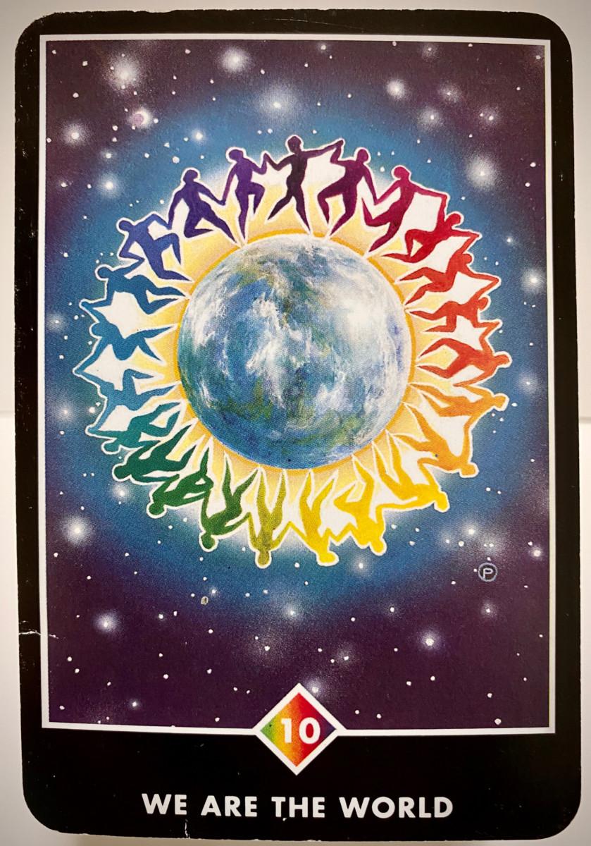 WE ARE THE WORLD ウィ・アー・ザ・ワールド OSHO禅タロット 1907日目 曇天ウォーキング 20200920
