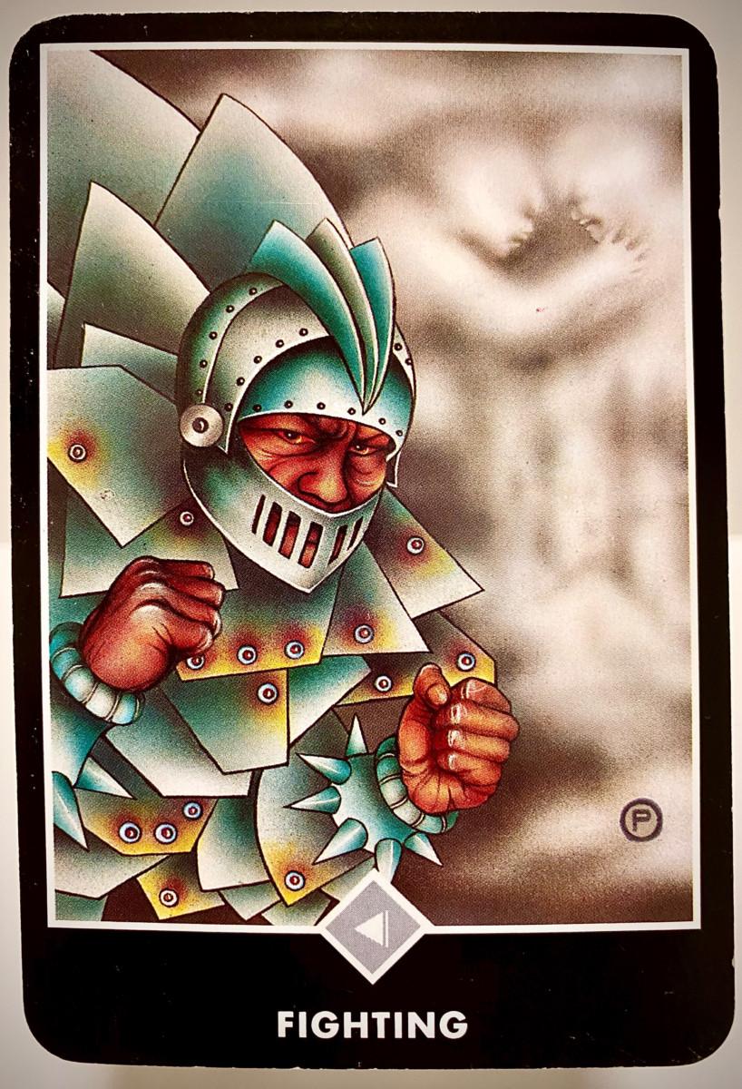 FIGHTING 戦い OSHO禅タロット 1911日目 雨中ウォーキング 20200924