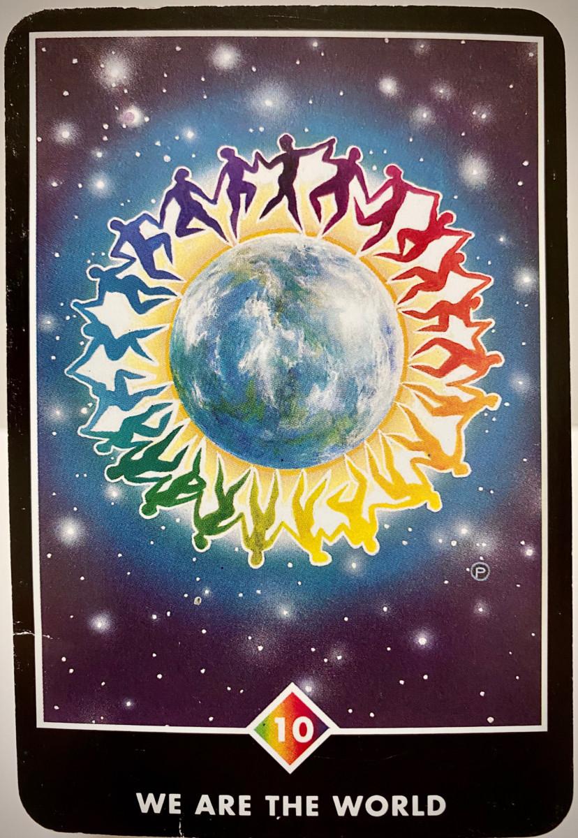 WE ARE THE WORLD ウィ・アー・ザ・ワールド OSHO禅タロット 1940日目 曇天ウォーキング 20201023