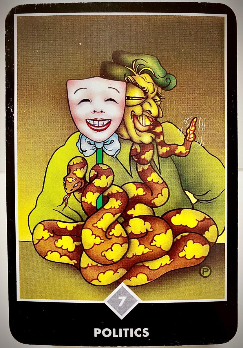 POLITICS 政治 OSHO禅タロット 1983日目 夜間ウォーキング 20201205