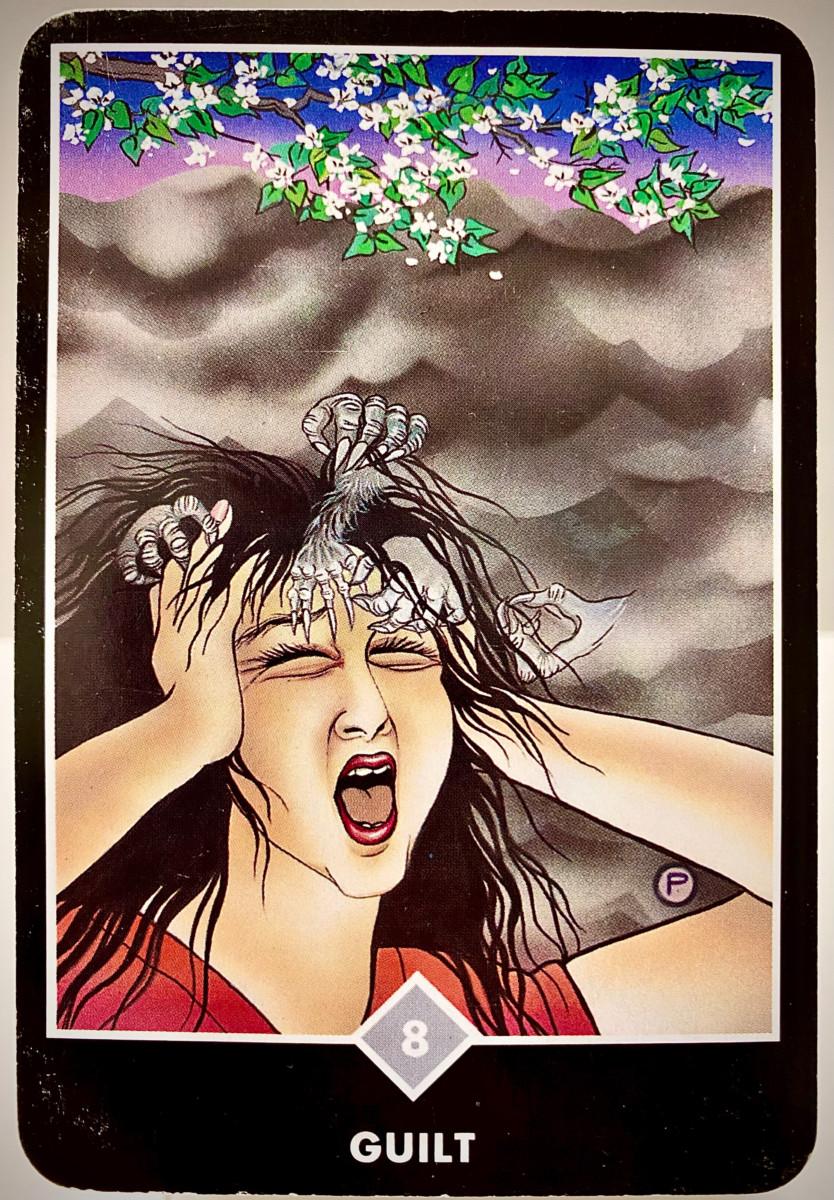 GUILT 罪悪感 OSHO禅タロット 2033日目 雨中ウォーキング 20210124
