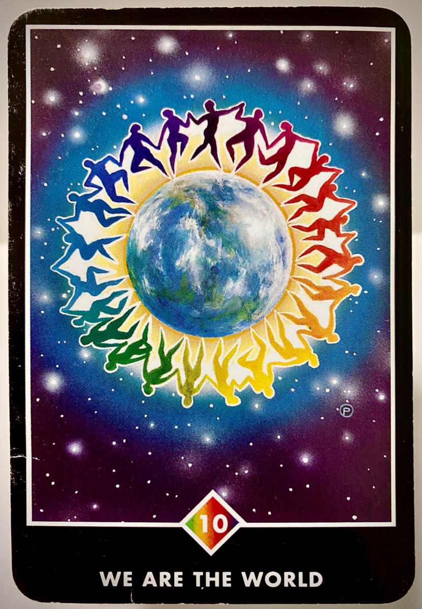 WE ARE THE WORLD ウィ・アー・ザ・ワールド OSHO禅タロット 2163日目 朝陽ウォーキング 20210603